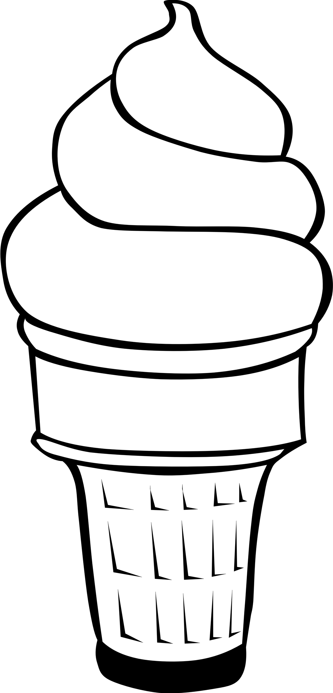1154x2400 Clipart - Ice PNG Black And White