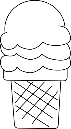 Black and White Ice Cream for I - Ice PNG Black And White
