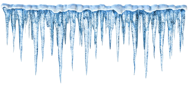 Icicles Border Clipart - Icicle PNG Border - Icicle HD PNG