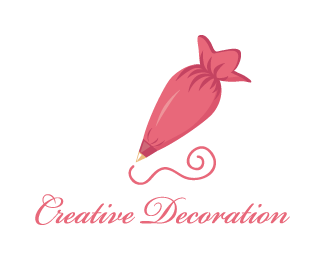Logo Design - Creative icing bag decoration - Icing Bag PNG