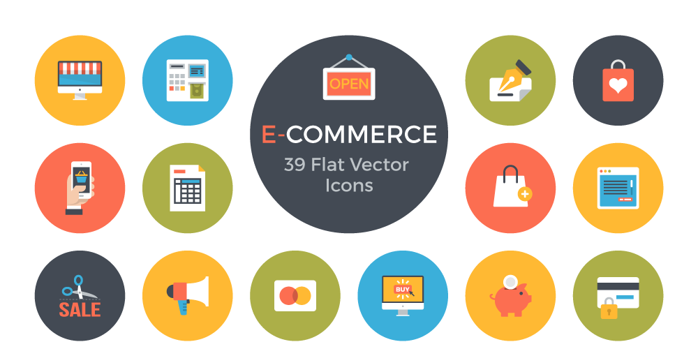 Free E Commerce Flat Vector Icons - Icon Vector PNG