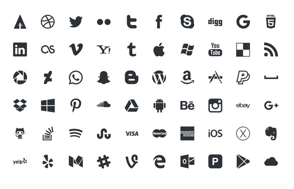 Social icons psd, vector, ai - Icon Vector PNG