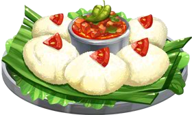 File:Recipe-Idli with Tomato Chutney.png - Idli PNG
