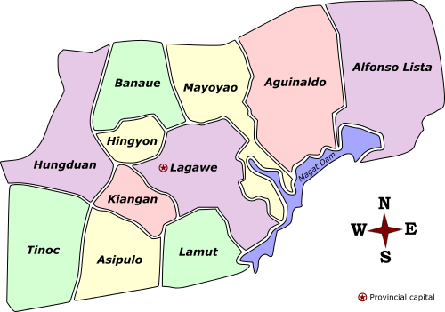 File:Ifugao Labelled Map.png - Ifugao PNG