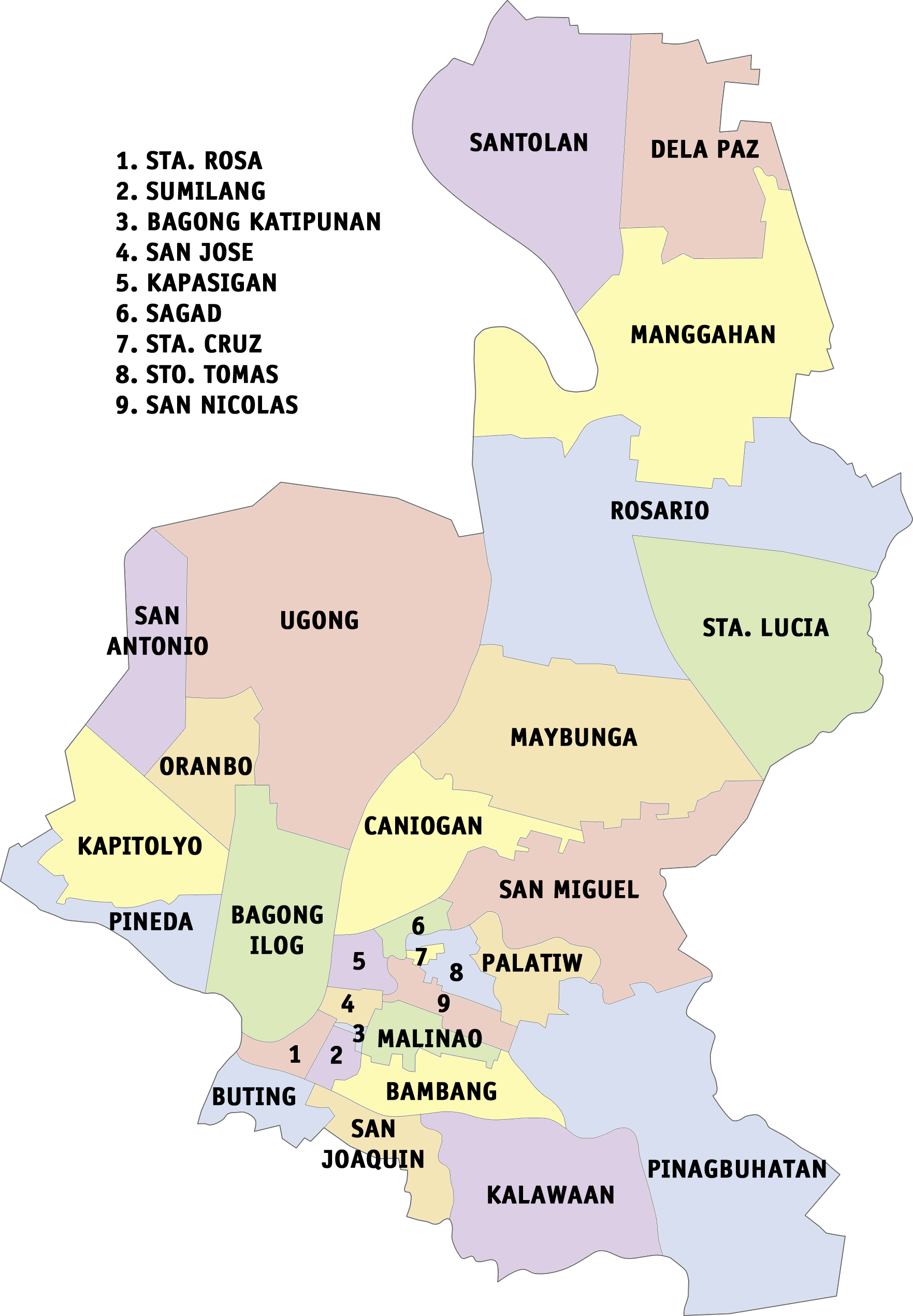 File:Ph fil pasig barangays.png - Ilog Pasig PNG