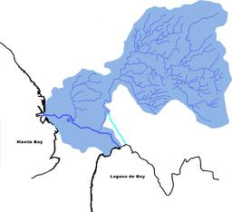 Pasig-marikina river drainagebasin.png - Ilog Pasig PNG