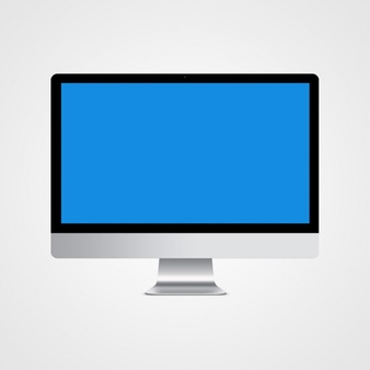 Computer mock up design - Imac Vector PNG