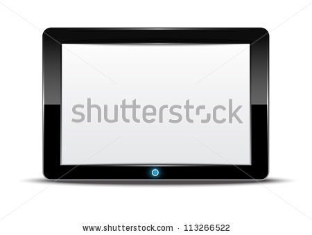 vector tablet computer with i
