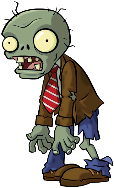 Image - Regular Zombie.png | Plants vs. Zombies Wiki | FANDOM powered by  Wikia - Zombie PNG