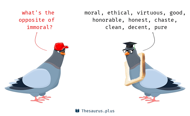 Antonyms for immoral - Immoral PNG