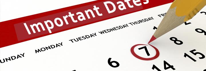Important Dates - Important Dates PNG
