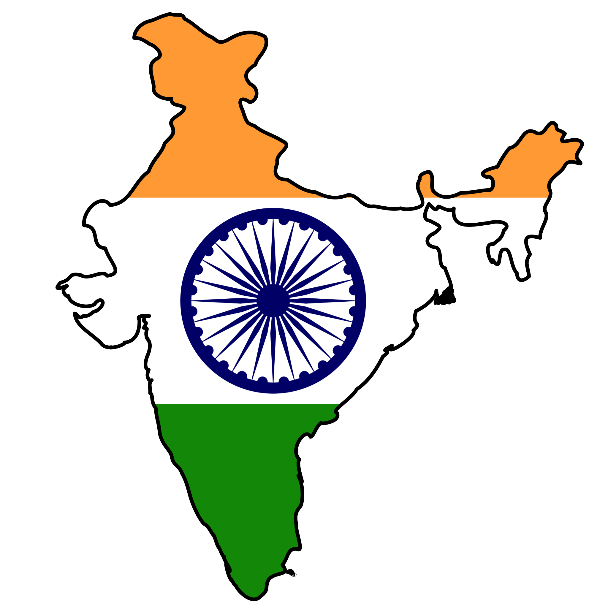 Click on the India Flag Map PlusPng.com  - India PNG