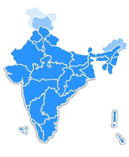 File:India map bluetones2.PNG - India PNG