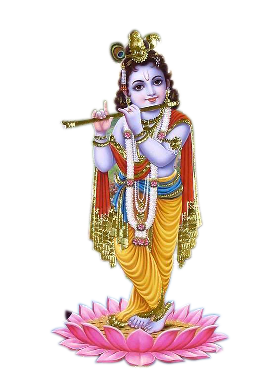 Download PNG image - Lord Krishna Free Download Png - Indian Cow With Krishna PNG