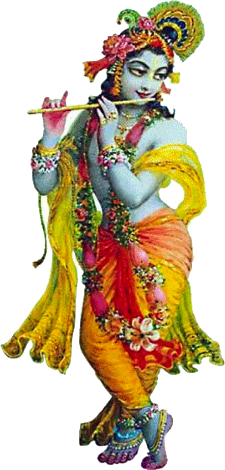 Download PNG image - Lord Krishna Free Png Image - Indian Cow With Krishna PNG