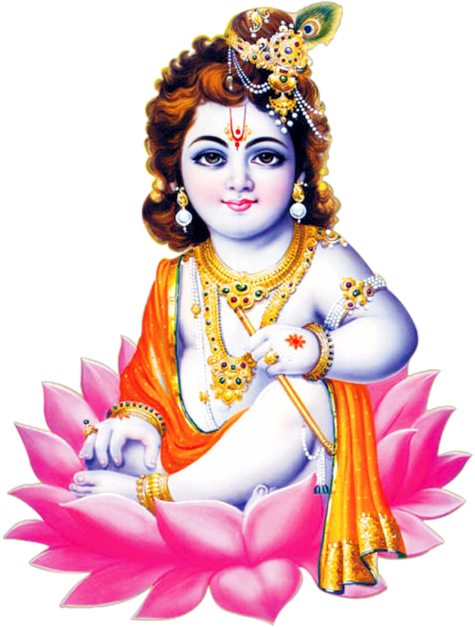 Download PNG image - Lord Krishna Png Image - Indian Cow With Krishna PNG