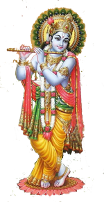 Download PNG image - Lord Krishna Png Picture - Indian Cow With Krishna PNG