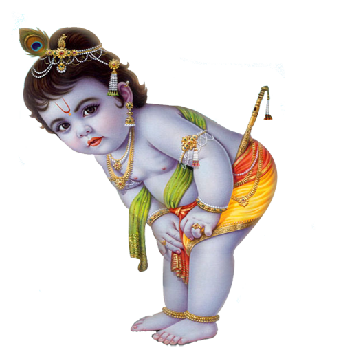 Lord Krishna Picture PNG Image - Indian Cow With Krishna PNG