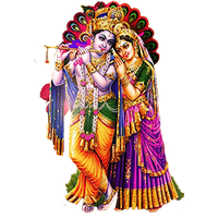 Radha Krishna Png Picture PNG Image - Indian Cow With Krishna PNG