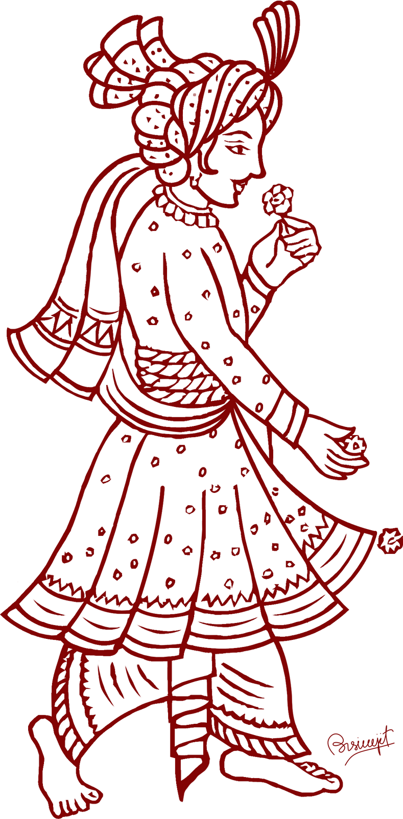 indian bride and groom clipart - Indian Dulha Dulhan PNG
