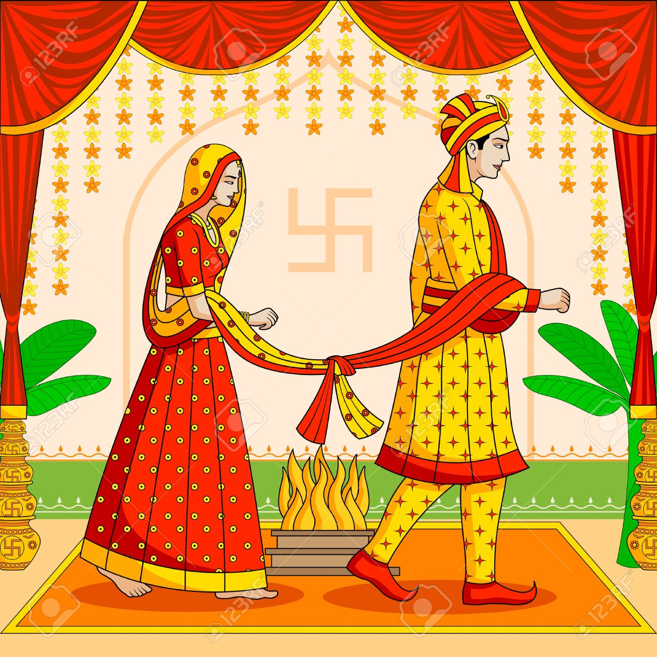 pin K.o.p.e.l. clipart indian wedding #8 - Indian Dulha Dulhan PNG