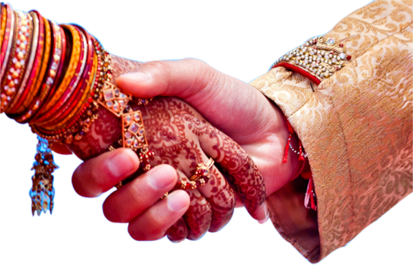 Wedding Couple Hand png image PlusPng.com  - Indian Dulha Dulhan PNG