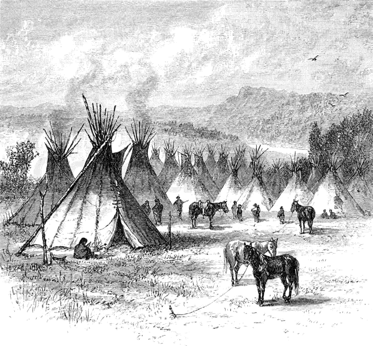 indian village lineart