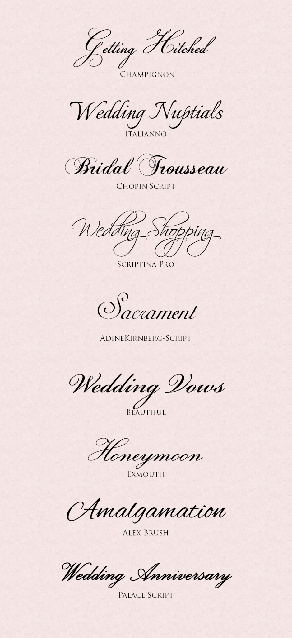 Wedding Invitation Fonts Featured On Memorable Indian Weddings - Indian Wedding PNG Fonts