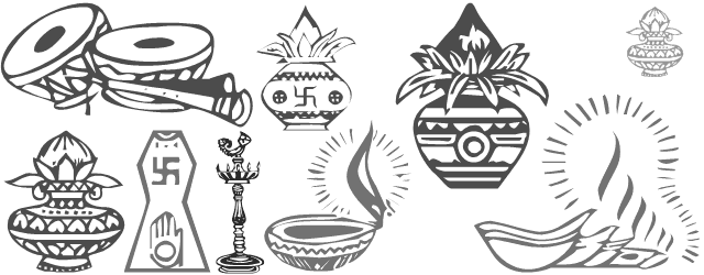indian wedding clipart fonts
