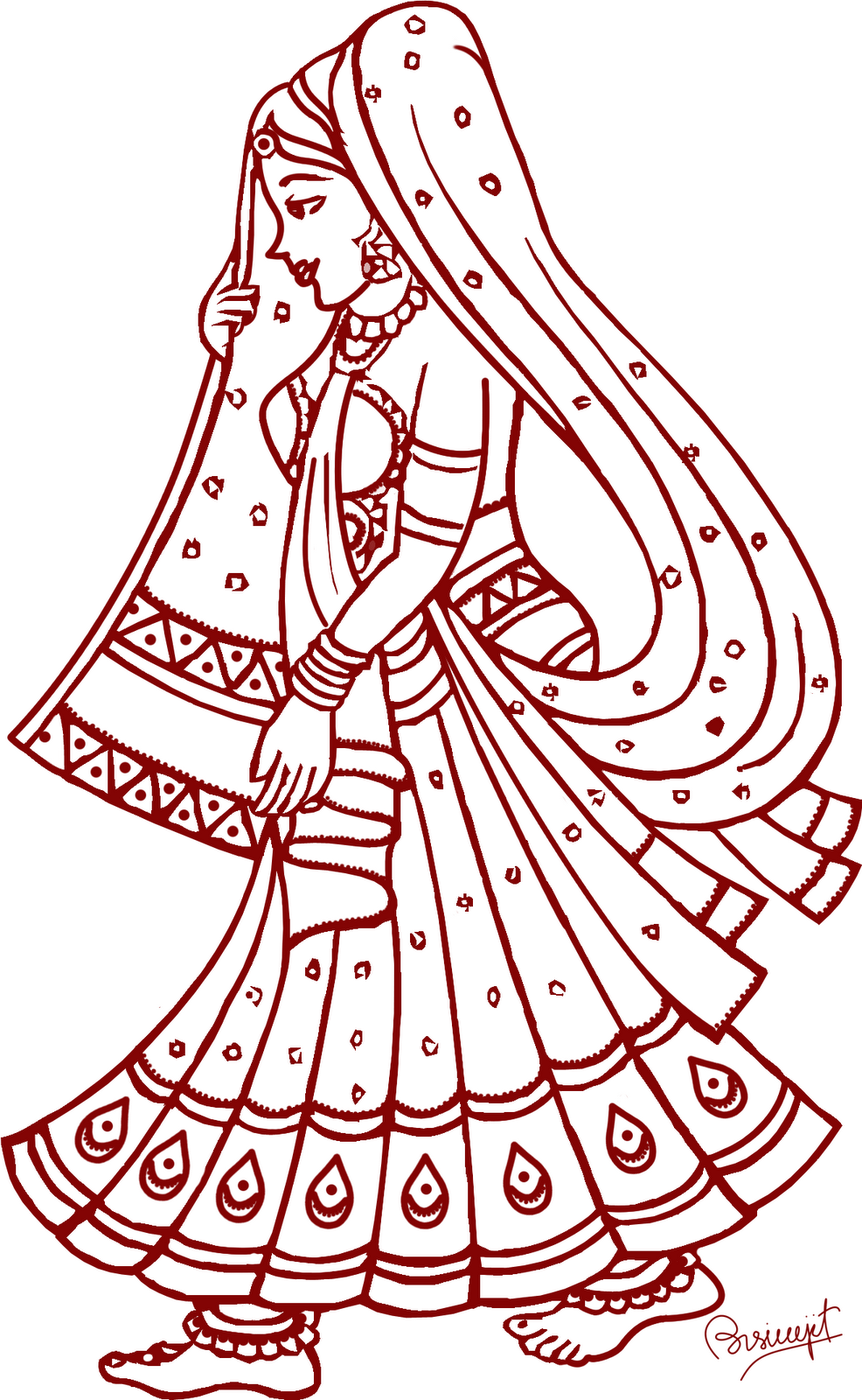 hindu wedding clipart - Indian Wedding PNG Vector