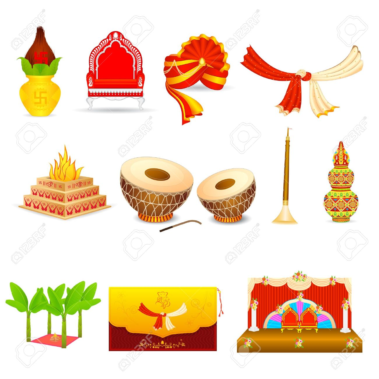 Indian wedding cliparts - Indian Wedding PNG Vector