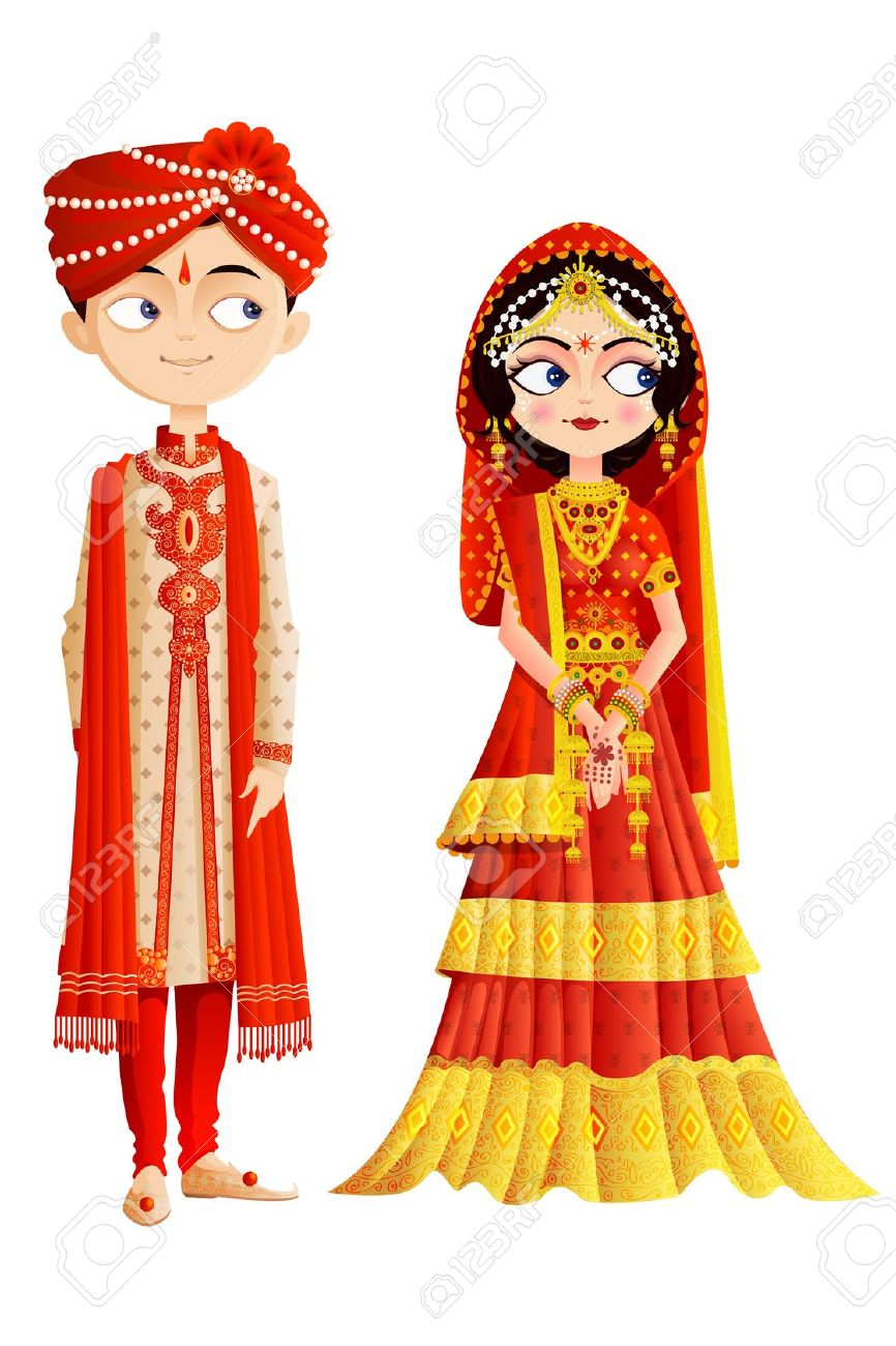 pin K.o.p.e.l. clipart indian wedding #3 - Indian Wedding PNG Vector