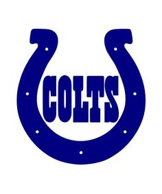 2Pack Indianapolis Colts Horseshoe Decal 15 Color by  - Indianapolis Colts Logo Vector PNG