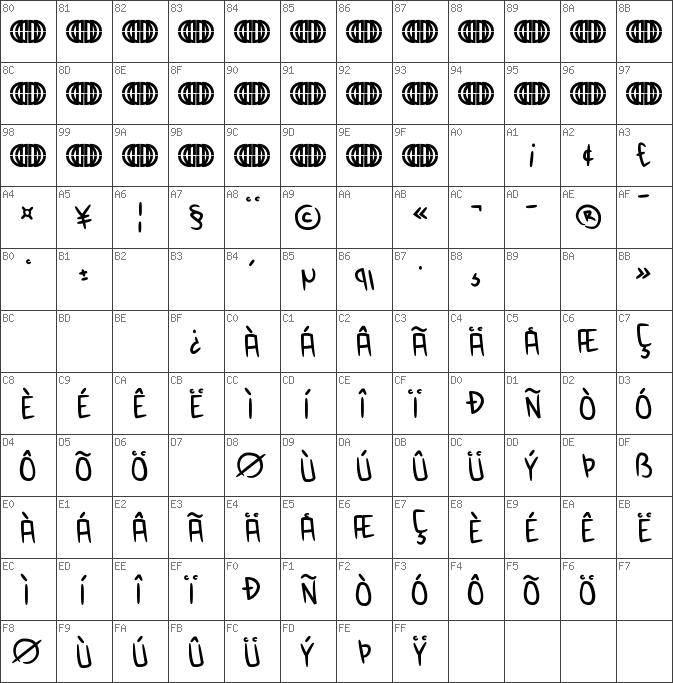 Char Unicode Anime Inept Regular - Inept PNG