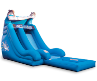 18u0027_dolphin_wave_waterslide.png PlusPng.com  - Inflatable Water Slide PNG