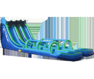 dual_lane_slip-n-dip_water_slide.png PlusPng.com  - Inflatable Water Slide PNG
