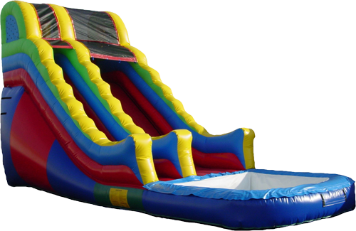 Giant 16 ft Wet/Dry Inflatable Slide. KIDflatables WaterSlide - Inflatable Water Slide PNG