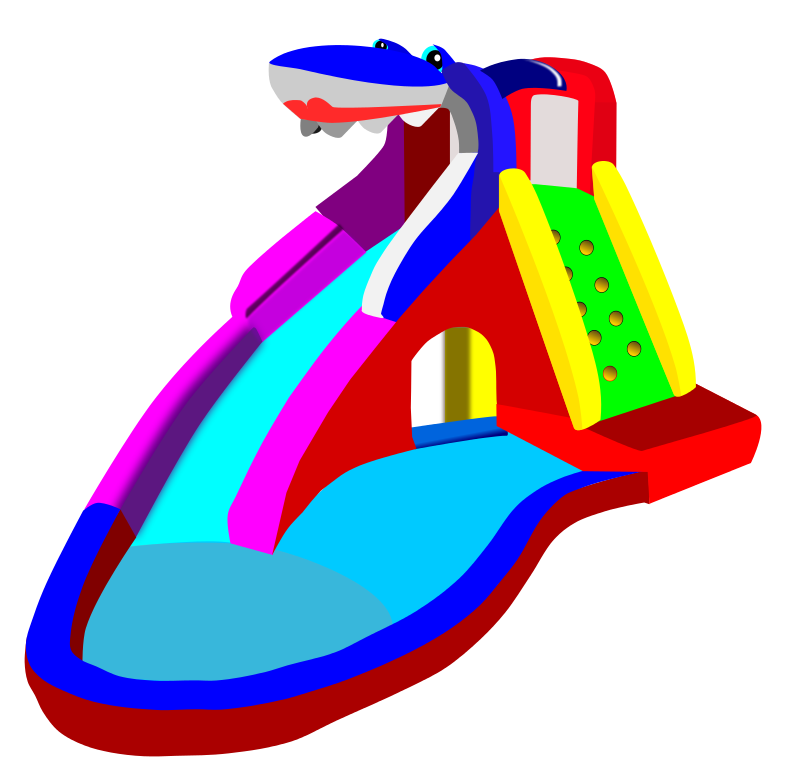 theme clipart - Inflatable Water Slide PNG