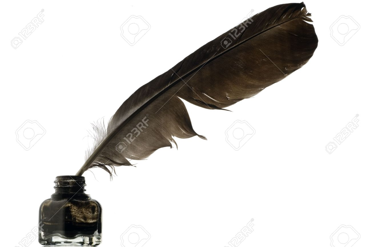 Ink Bottle And Feather PNG - 170323