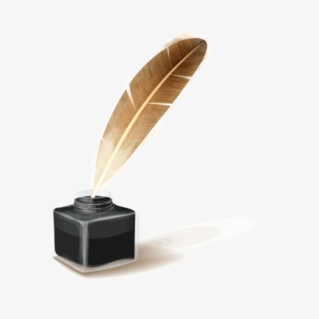 Ink Bottle And Feather PNG - 170325