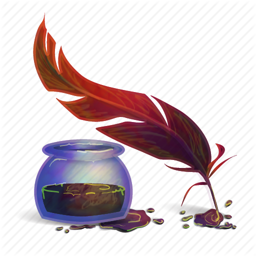 Ink Bottle And Feather PNG - 170320