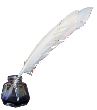 Ink Bottle And Feather PNG - 170319