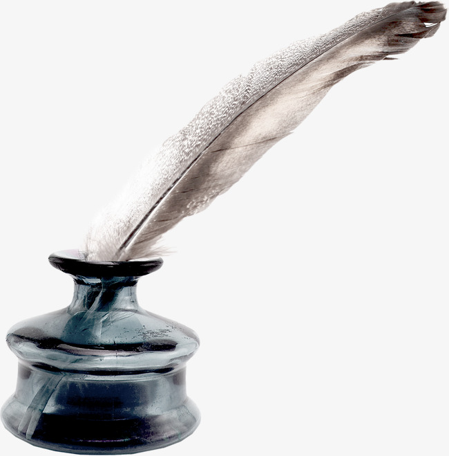 Ink Bottle And Feather PNG - 170321