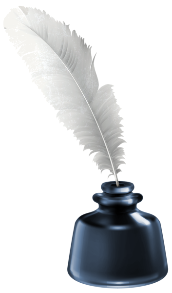 Ink Bottle And Feather PNG - 170328