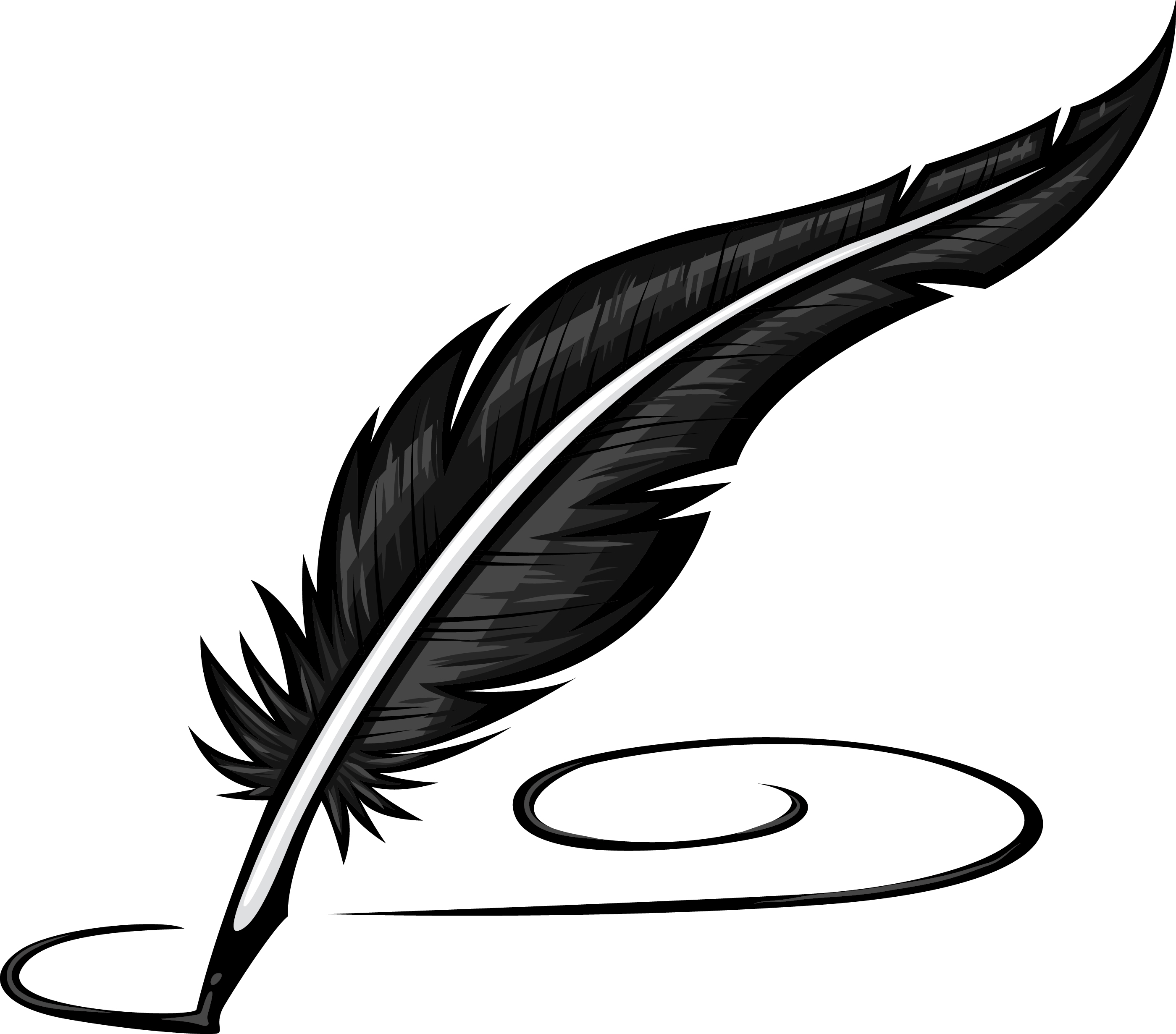 Ink Bottle And Feather PNG - 170329