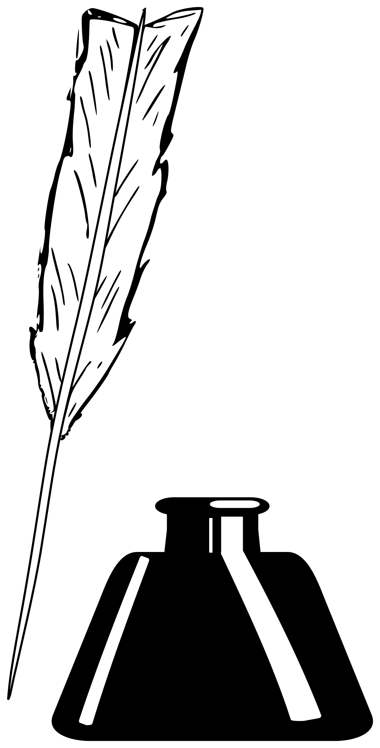 Ink Bottle PNG Black And White - 69990