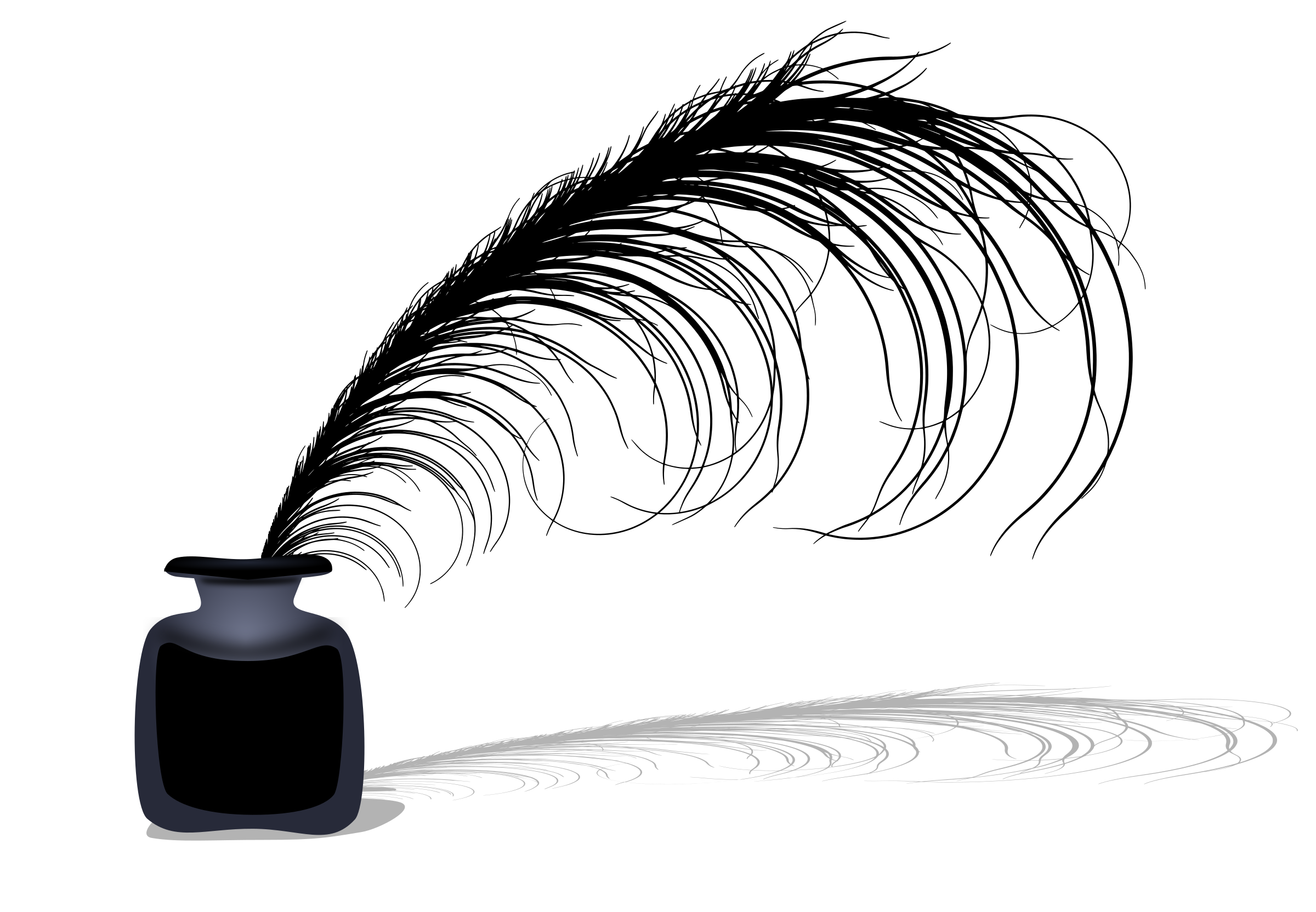 Ink Bottle PNG Black And White - 69979