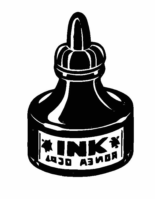 Ink Bottle PNG Black And White - 69982