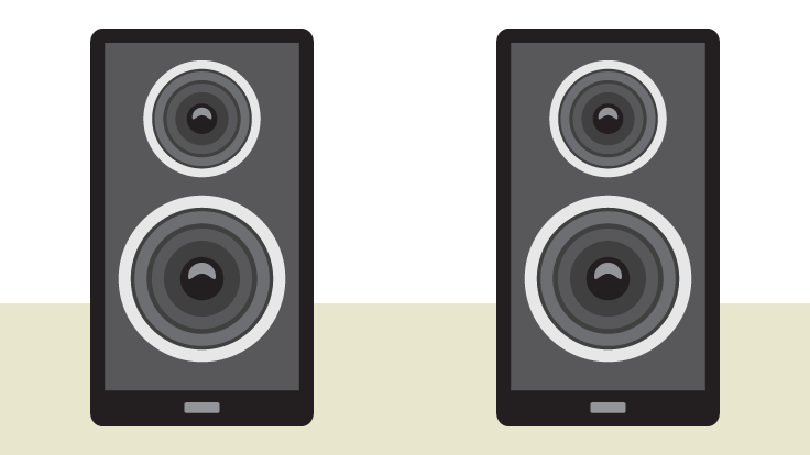 Close-up of computer speakers - Input And Output Devices PNG