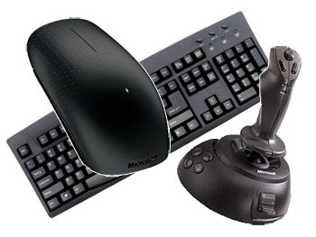 The flight simulator we developed in the previous article brought up the  need for a serious control of the computer input devices. - Input Devices PNG
